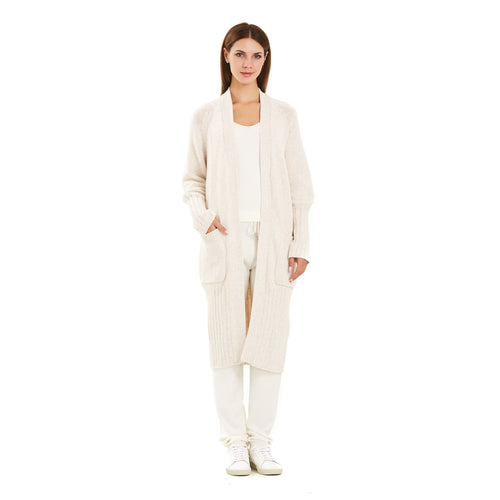 Beige Rib Knitted Cardigan-INA VOKICH-HOUSE of BOTTA