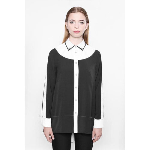Bilateral Black Blouse-KOSTELNI-HOUSE of BOTTA
