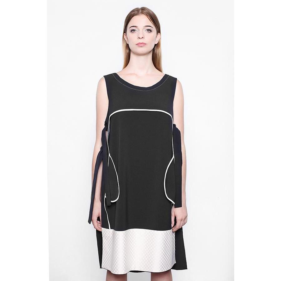 Bilateral Long Black Dress-KOSTELNI-HOUSE of BOTTA