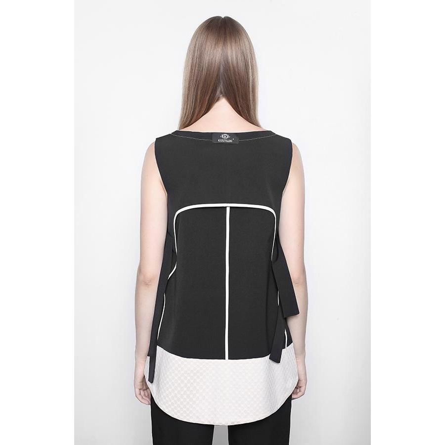 Bilateral Short Black Vest-KOSTELNI-HOUSE of BOTTA