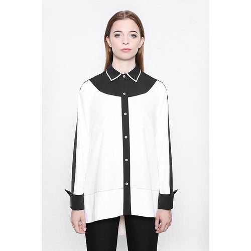 Bilateral White Blouse-KOSTELNI-HOUSE of BOTTA