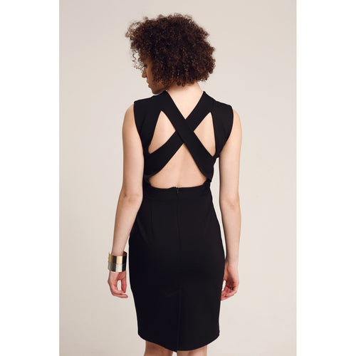 Black Bodycon Backless Dress Time To Say Hi-OVER THE SEA-HOUSE of BOTTA