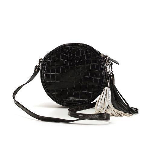 Black Croco Round Bag-OZERIANKO-HOUSE of BOTTA