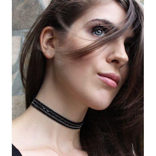Black Crystal Choker - Holiday Collection-Ying Cai-HOUSE of BOTTA