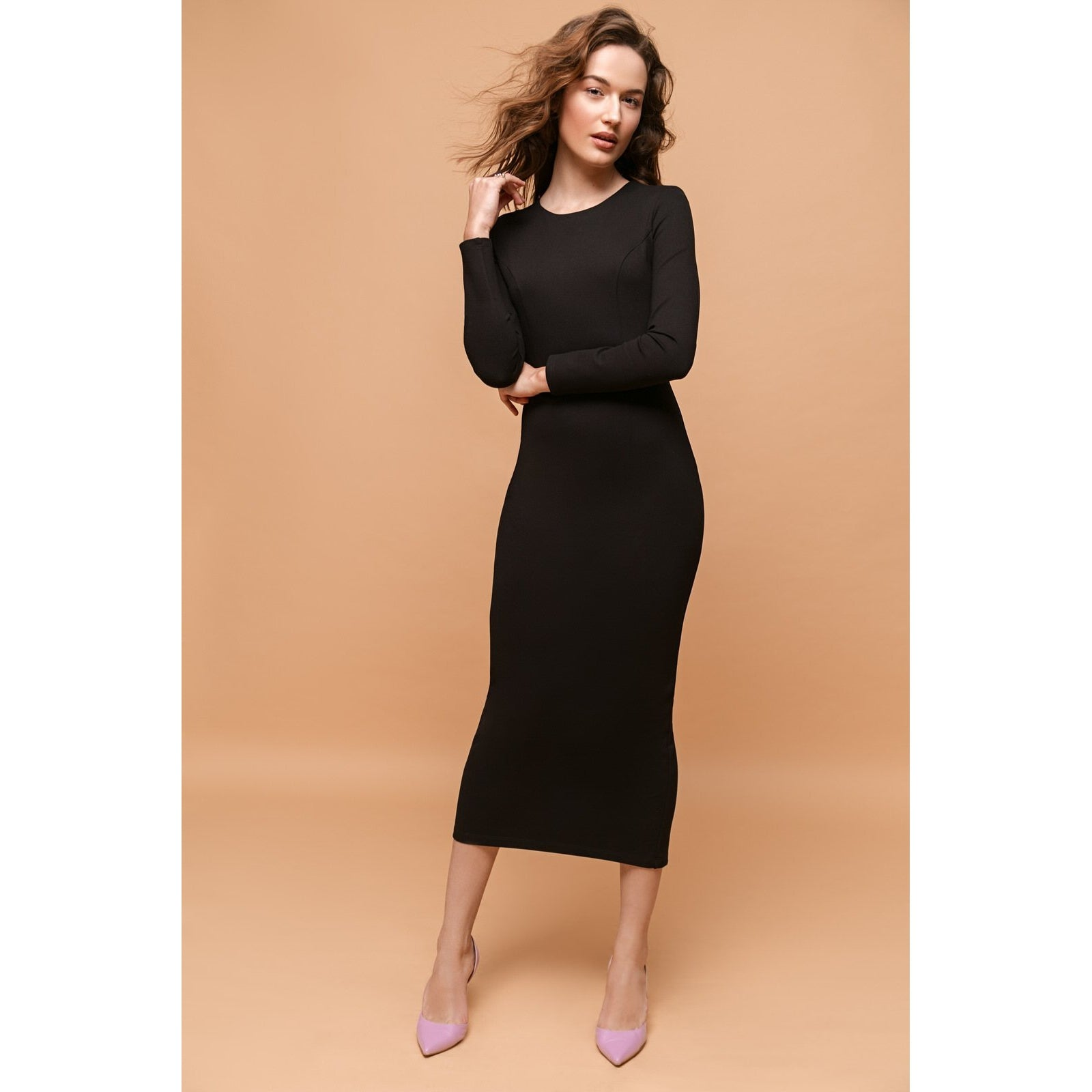 Black Maxi Bodycon Dress Never Let Me Go-OVER THE SEA-HOUSE of BOTTA