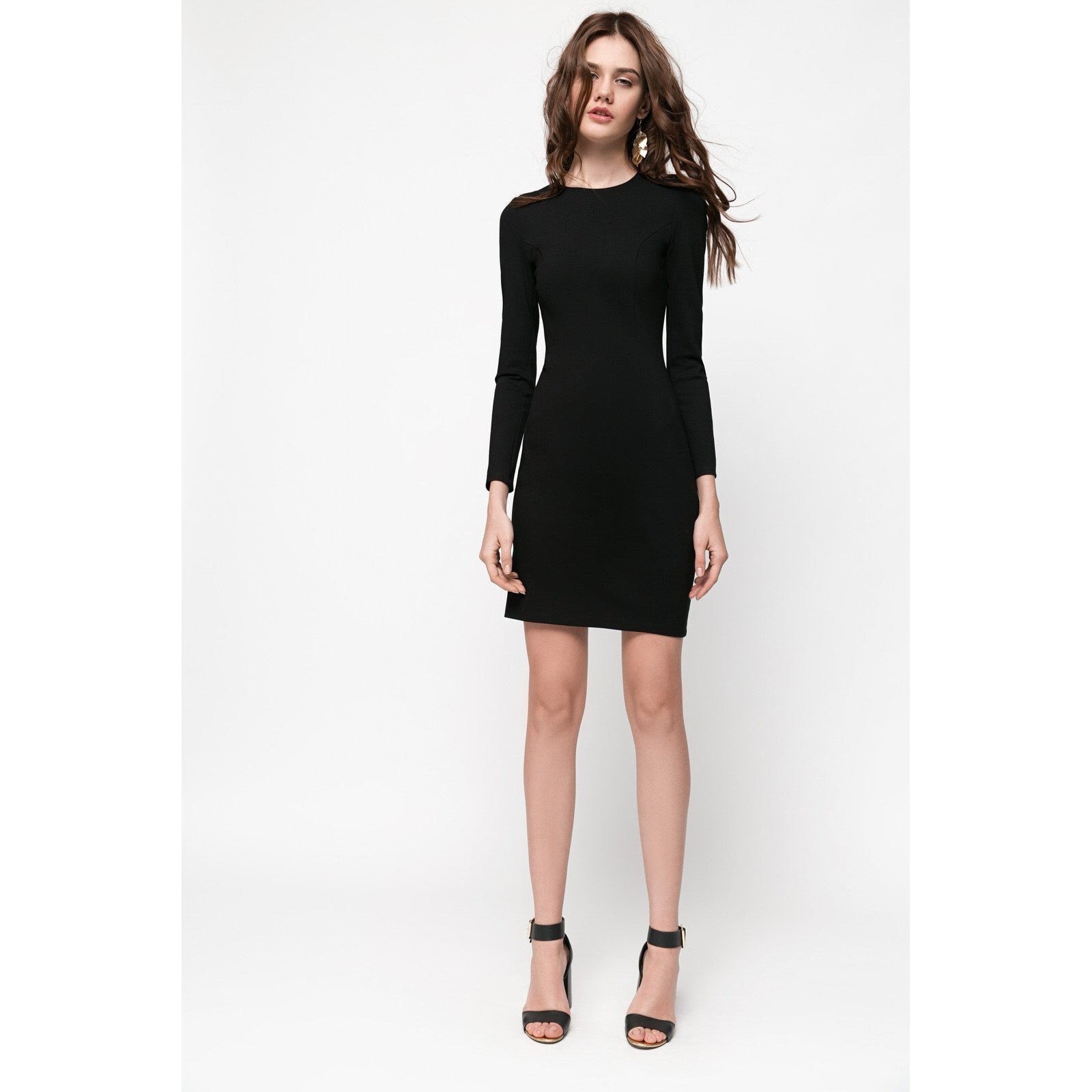 Black Mini Bodycon Dress Never Let Me Go-OVER THE SEA-HOUSE of BOTTA