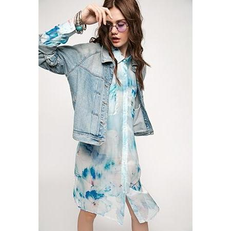 "Blue Dress-Shirt ""Cloud Number Nine""-OVER THE SEA-HOUSE of BOTTA"
