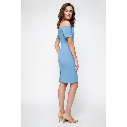 Blue Off Shoulder Bodycon Dress Rise Of Dawn Royals-OVER THE SEA-HOUSE of BOTTA