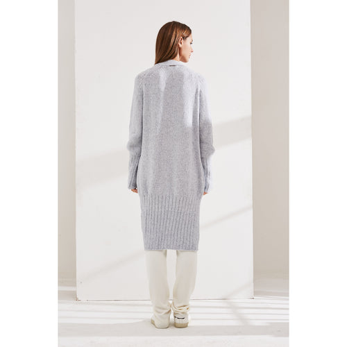 Blue Rib Knitted Cardigan-INA VOKICH-HOUSE of BOTTA