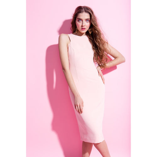 Blush Pink Bodycon Dress Friday Is For Love-OVER THE SEA-HOUSE of BOTTA