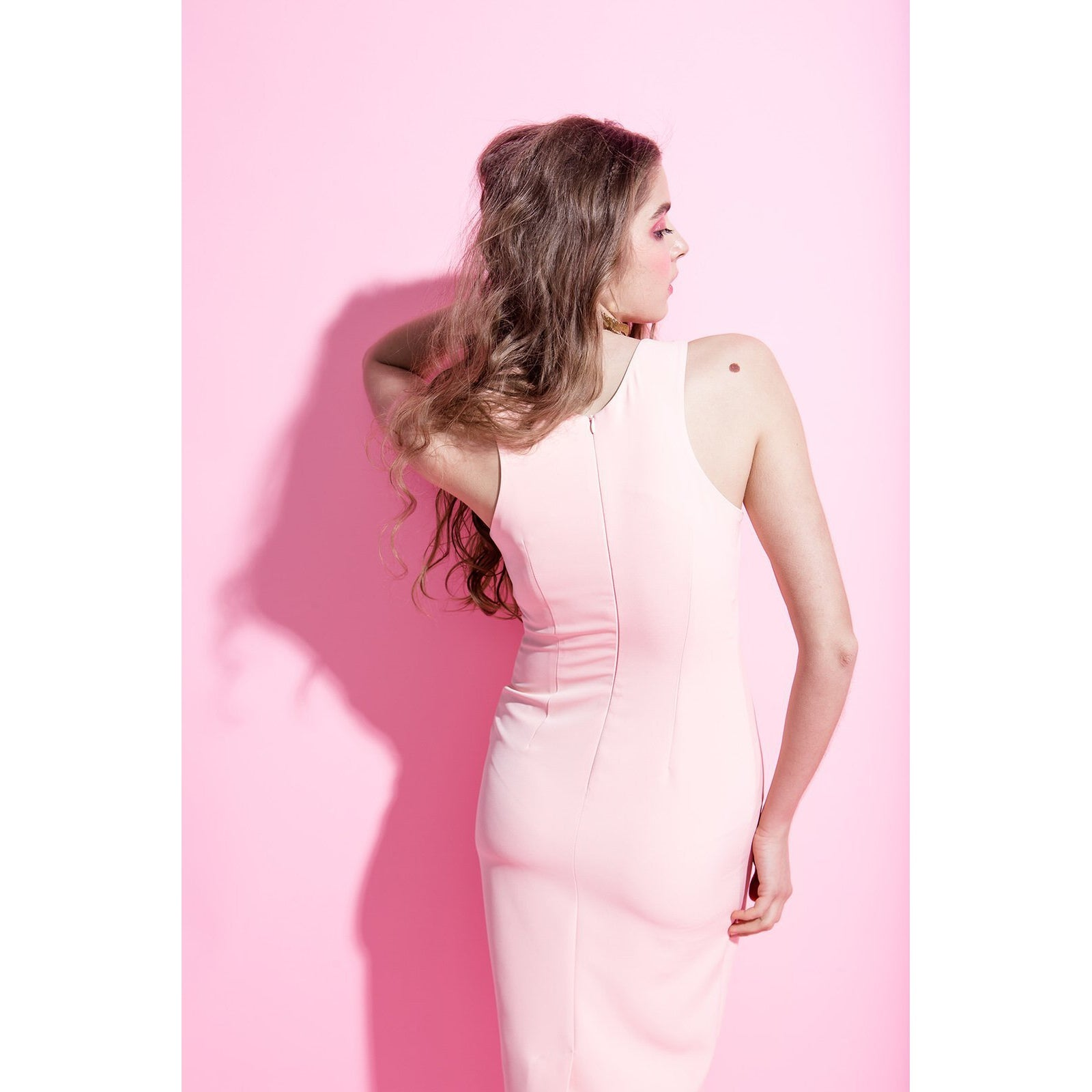 6c055e0eea6 Blush Pink Bodycon Dress Friday Is For Love-OVER THE SEA-HOUSE of BOTTA
