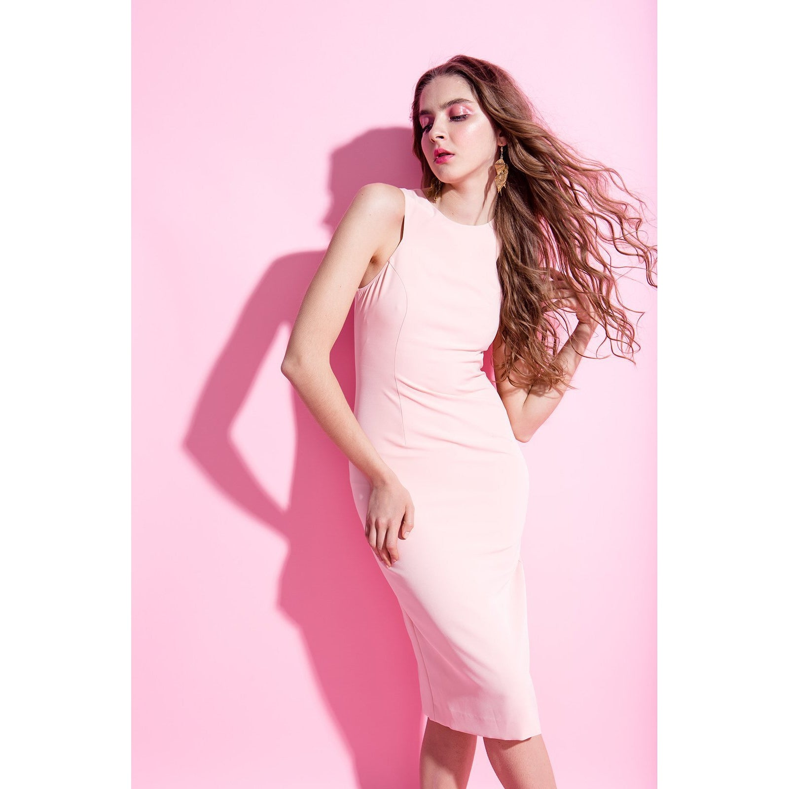 8d9f9205bbc Blush Pink Bodycon Dress Friday Is For Love
