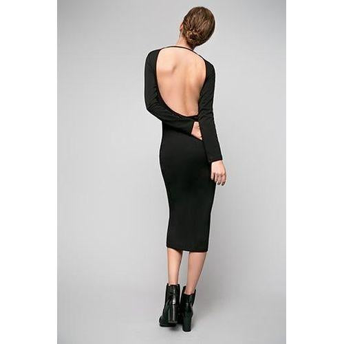 Bodycon Midi Backless Dress 'When You Call My Name'-OVER THE SEA-HOUSE of BOTTA