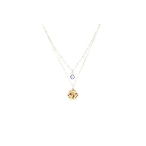 Brow Chakra Ajna Double Strand Necklace-Seven Saints-HOUSE of BOTTA