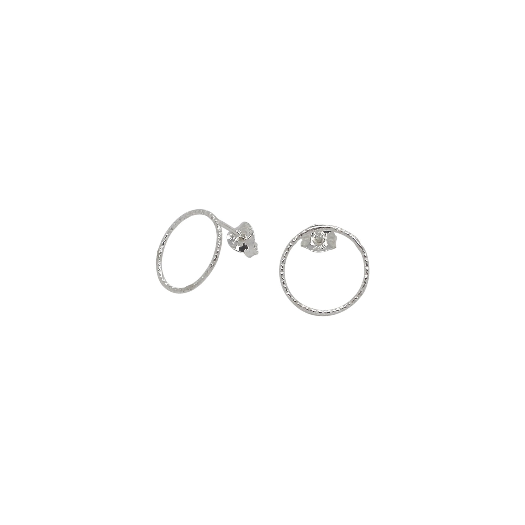 Circle Stud Earrings Sterling Silver-Lucy Ashton-HOUSE of BOTTA