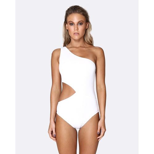 Cold Shoulder Asymmetrical One Piece Swimsuit-ALLERTON-HOUSE of BOTTA