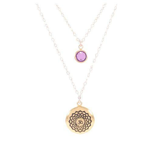 Crown Chakra Sahasrara Necklace 18K Gold Finish-Seven Saints-HOUSE of BOTTA