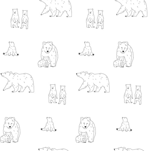 Cushion – Bear Mono-Homeware-HOUSE of BOTTA