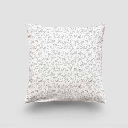Cushion – Geese Mono-Homeware-HOUSE of BOTTA