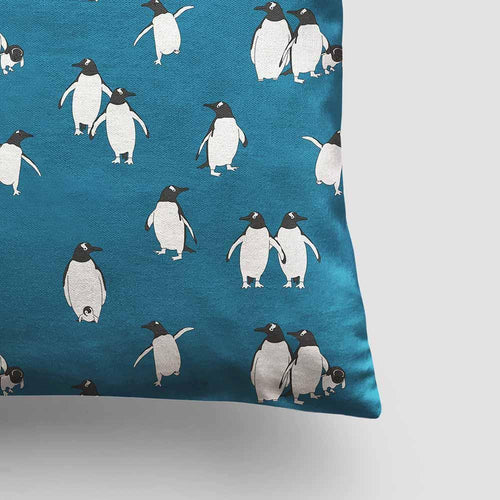 Cushion – Penguin Atlantic Blue-Homeware-HOUSE of BOTTA