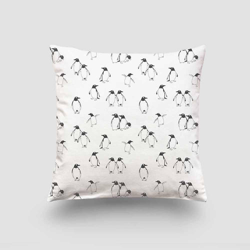 Cushion – Penguin Mono-Homeware-HOUSE of BOTTA