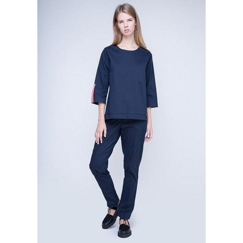 Dark Blue Blouse-INSIDEU-HOUSE of BOTTA