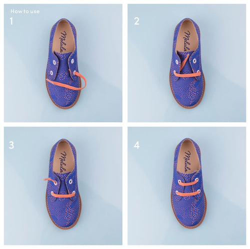 Dark Blue No-Tie Laces-Kids-HOUSE of BOTTA