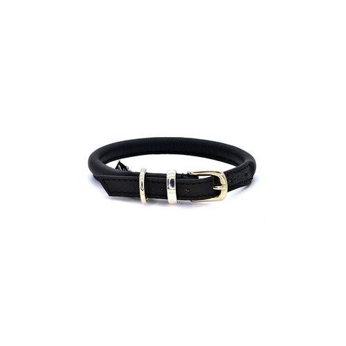 D&H Rolled Leather Collar Black-Pets-HOUSE of BOTTA