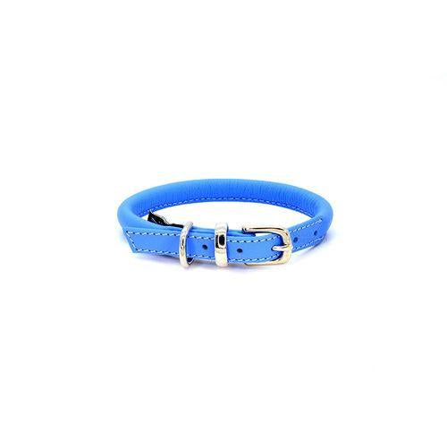 D&H Rolled Leather Collar Blue-Pets-HOUSE of BOTTA