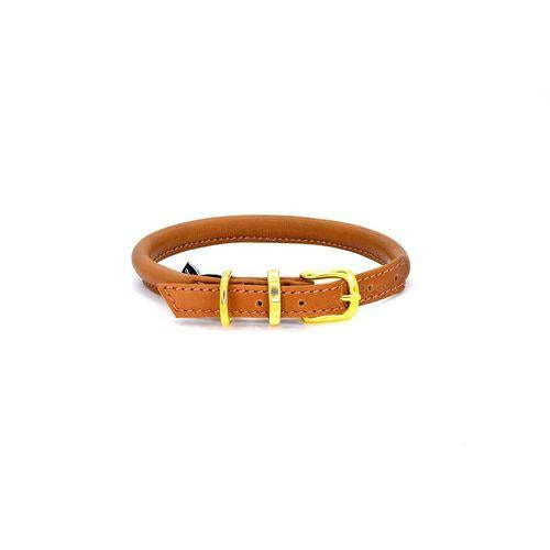 D&H Rolled Leather Collar Brown-Pets-HOUSE of BOTTA