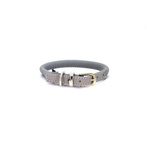 D&H Rolled Leather Collar Grey-Pets-HOUSE of BOTTA