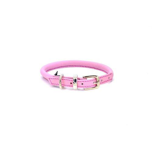 D&H Rolled Leather Collar Pink-Pets-HOUSE of BOTTA