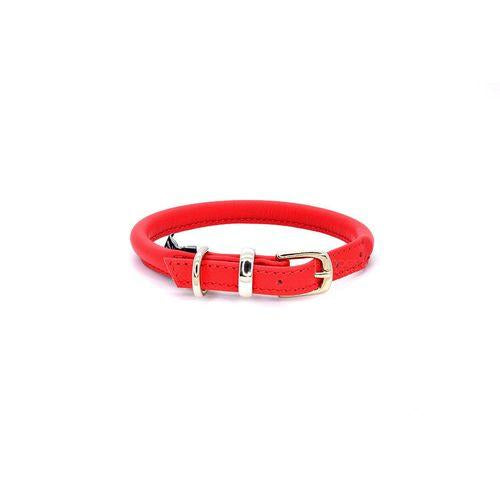D&H Rolled Leather Collar Red-Pets-HOUSE of BOTTA