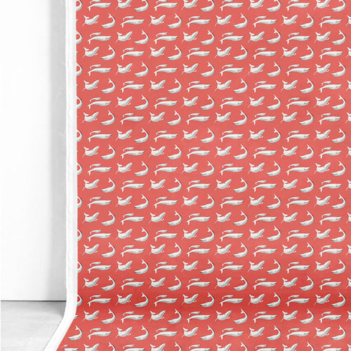 Fabric – Whale Splash Red-Homeware-HOUSE of BOTTA