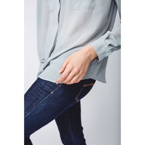 Finally Together Mint-Green Loose Colorblock Shirt-OVER THE SEA-HOUSE of BOTTA