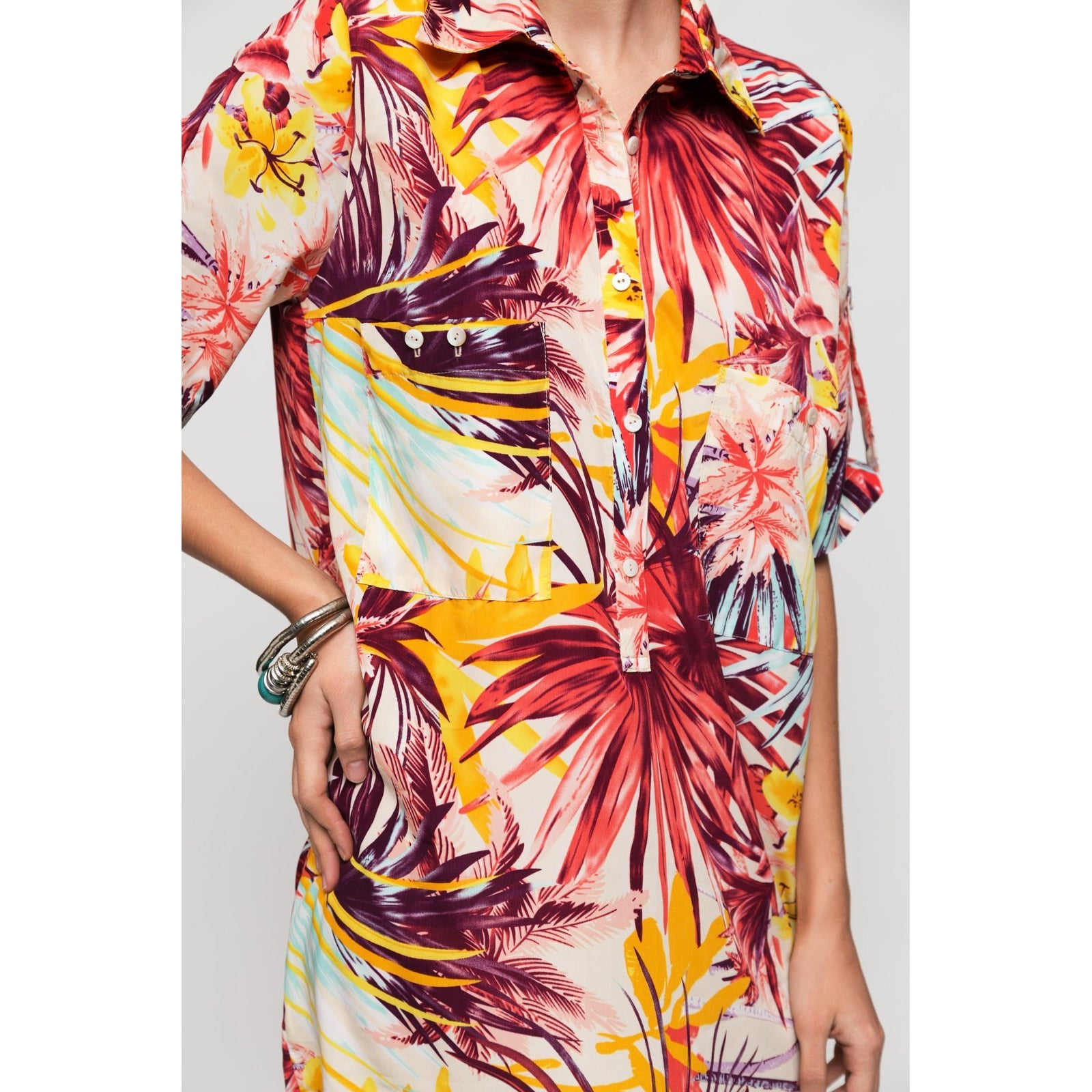 Floral Shirt Dress My Ticket To Bali-OVER THE SEA-HOUSE of BOTTA