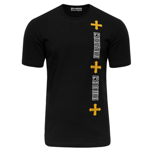 Force Majeure United Samurai Black T-Shirt-Men-HOUSE of BOTTA