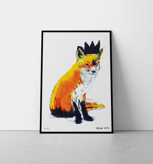 Fox with Black Crown Print-Homeware-HOUSE of BOTTA
