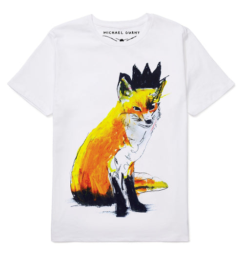 Fox with Black Crown T-shirt-Men-HOUSE of BOTTA