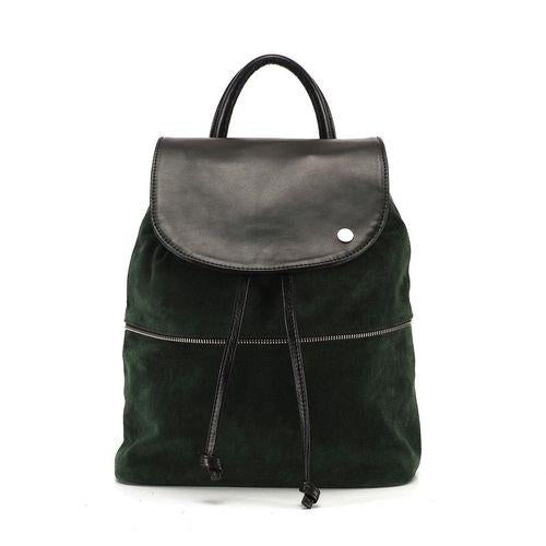 Green-Black Backpack With Removable Fringe-OZERIANKO-HOUSE of BOTTA