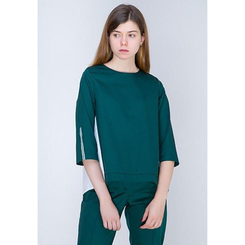 Green Blouse-INSIDEU-HOUSE of BOTTA