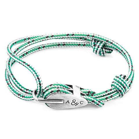 Green Dash Trent Silver And Rope Bangle