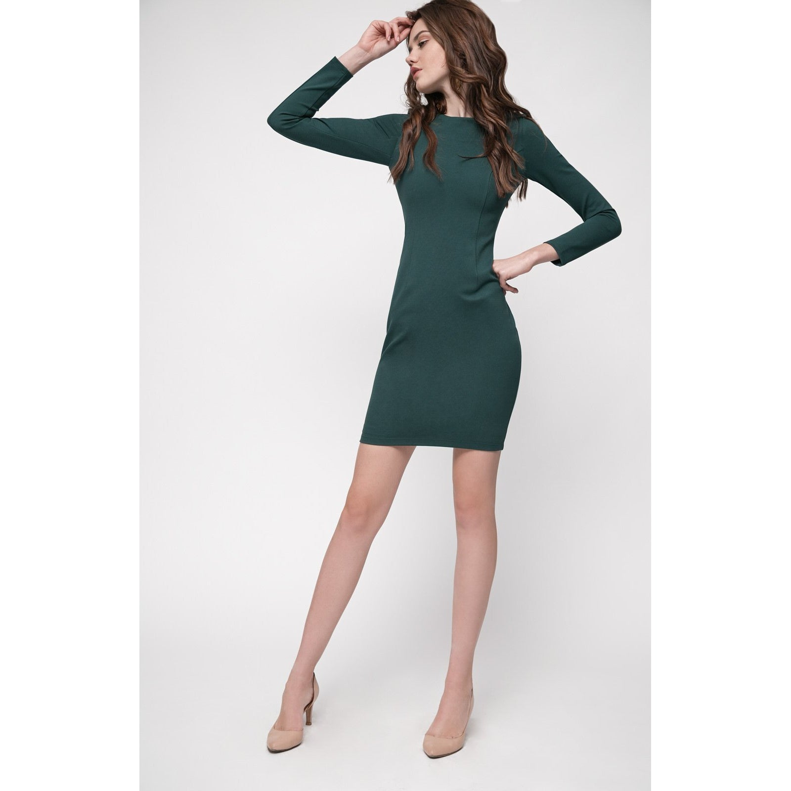 Green Mini Bodycon Dress Never Let Me Go-OVER THE SEA-HOUSE of BOTTA