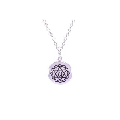 Heart Chakra Anahata Necklace White Rhodium/Sterling Silver-Seven Saints-HOUSE of BOTTA