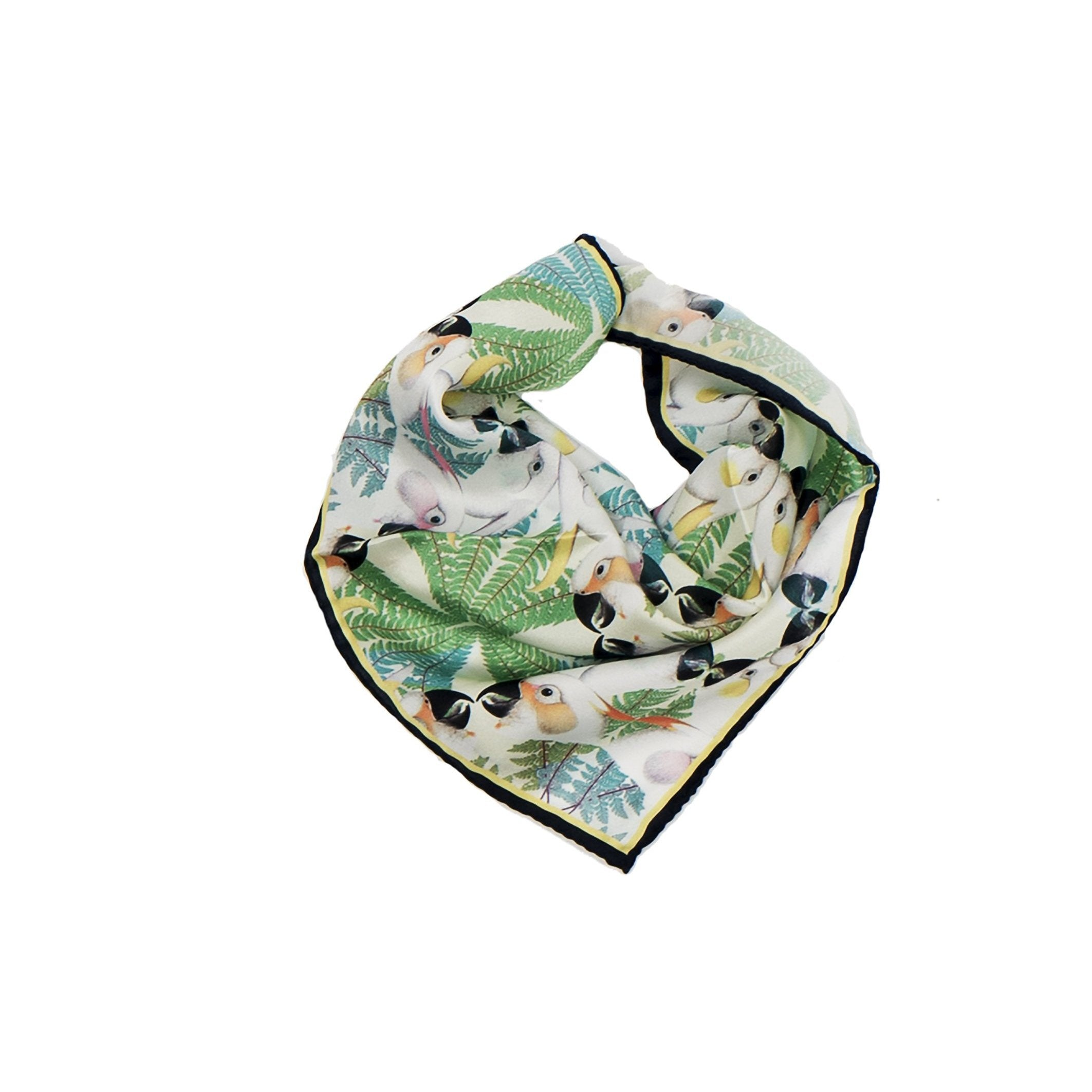Iguazu Collection - Silk Pocket Square-Texas and the Artichoke-HOUSE of BOTTA