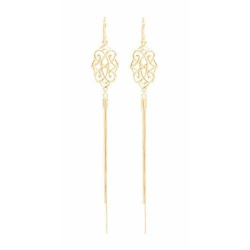 Infinite Love Foliate Tassel Earrings Rose Gold Vermeil-Seven Saints-HOUSE of BOTTA