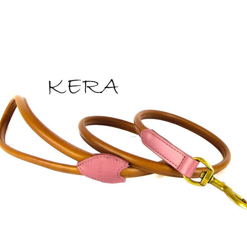 Kera Rolled Leather Lead-Pets-HOUSE of BOTTA