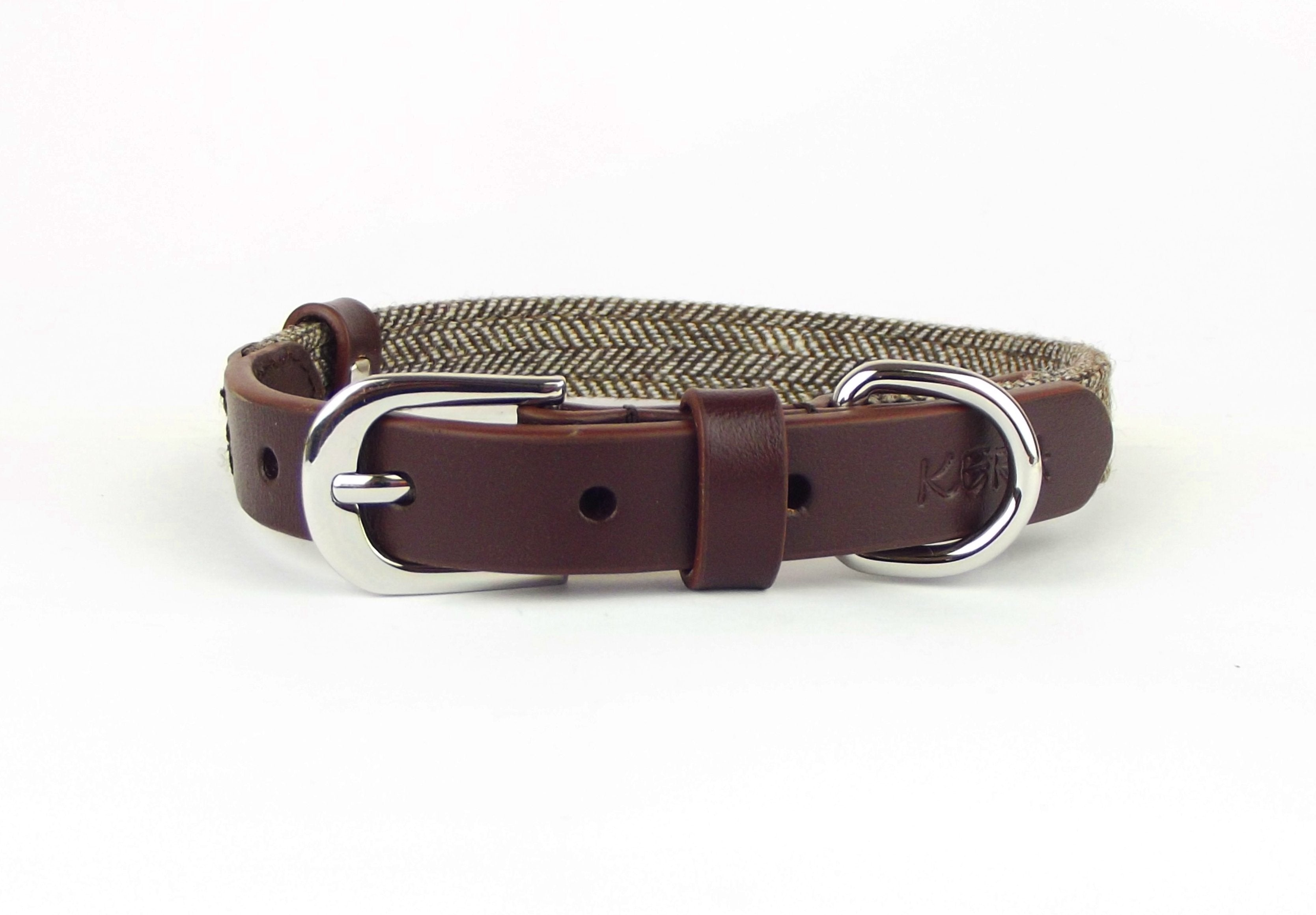 Kera Tweed Brown Collar-Pets-HOUSE of BOTTA