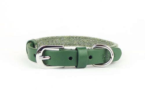 Kera Tweed Green Collar-Pets-HOUSE of BOTTA
