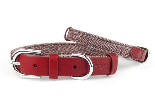 Kera Tweed Red Collar-Pets-HOUSE of BOTTA